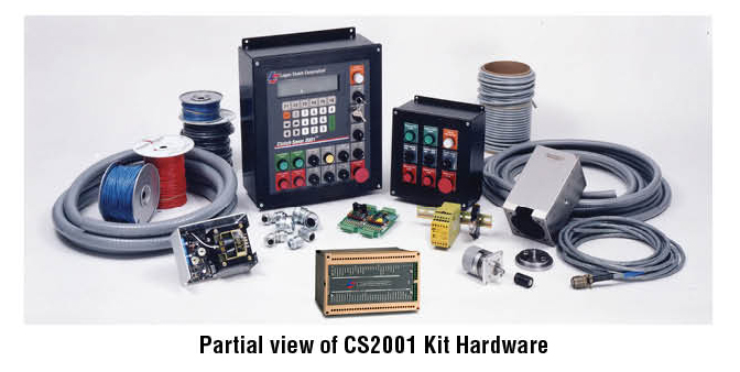 Partial view of CS2001 Kit Hardware
