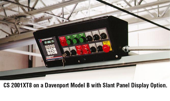CS2001XT on a Davenport Model B with Slant panel display option.