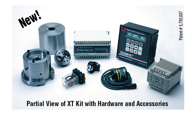 Partial view of XT kit hardware and accessories