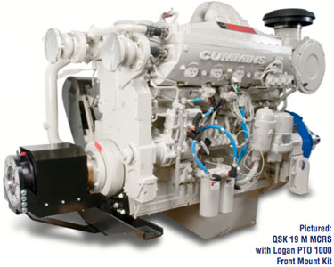 c6.6 150kwe Diesel with logan pto 600 front mount kit