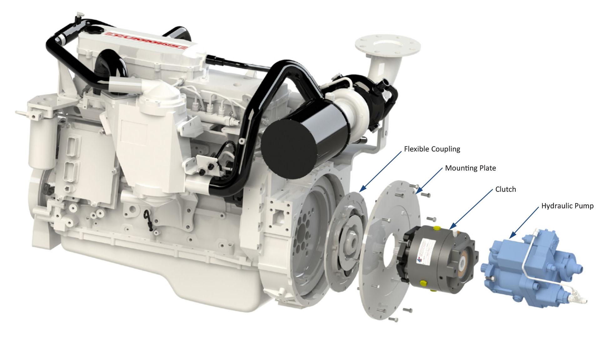 Flywheel Mounted Logan PTO Replaces Mechanical on Tug