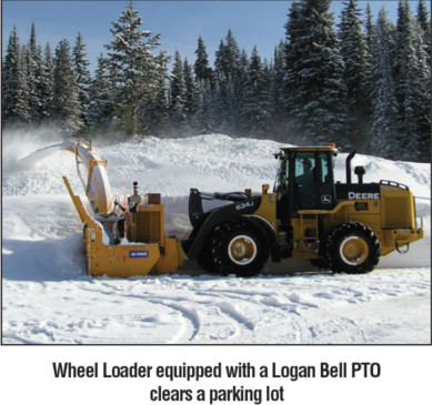 Wheel Loader equipped with a Logan Bell PTO