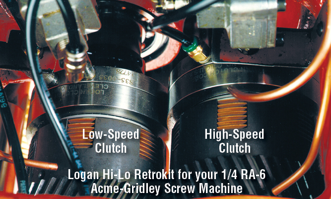 Logan Hi-Lo Retrokit for your 1/4 RA-6 Acme-Gridley Screw Machine