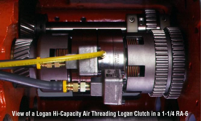 View of a Logan Hi-Capacity Air Threading Logan Clutch in a 1-1/4 RA-6