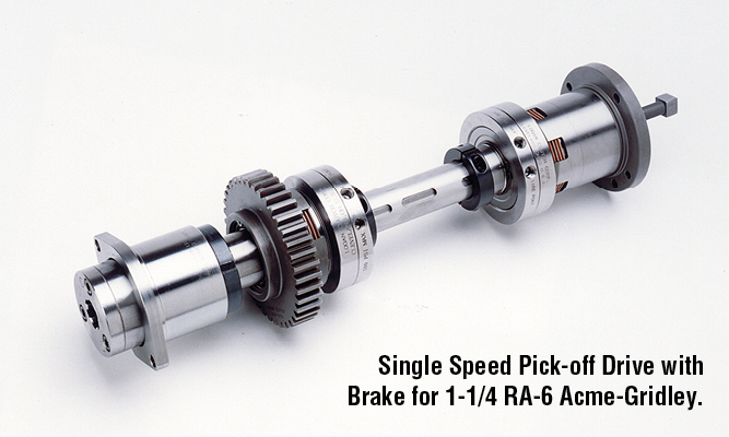 Single Speed Pick-off Drive with Brake for 1-1/4 RA-6 Acme-Gridley.