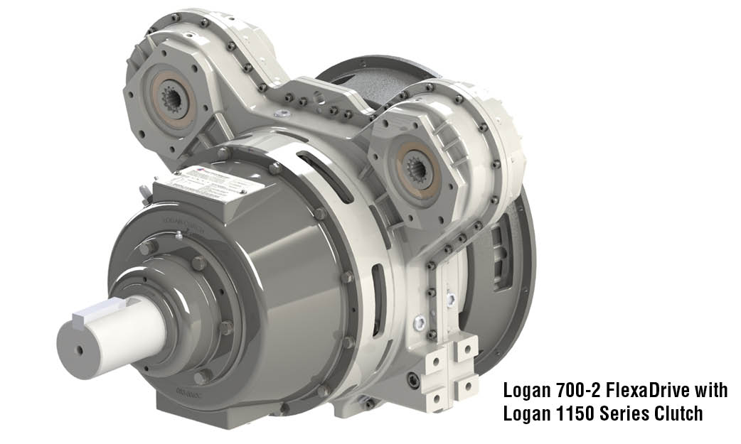 Logan 700-2 FlexaDrive with  Logan 1150 Series Clutch