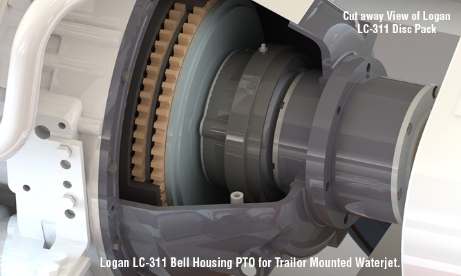 Logan LC-311 Bell Housing PTO for Trailor Mounted Waterjet.