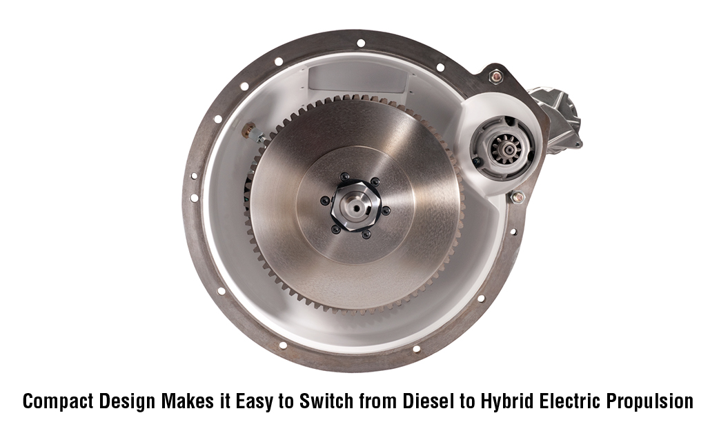 Compact Design Makes it Easy to Switch from Diesel to Hybrid Electric Propulsion