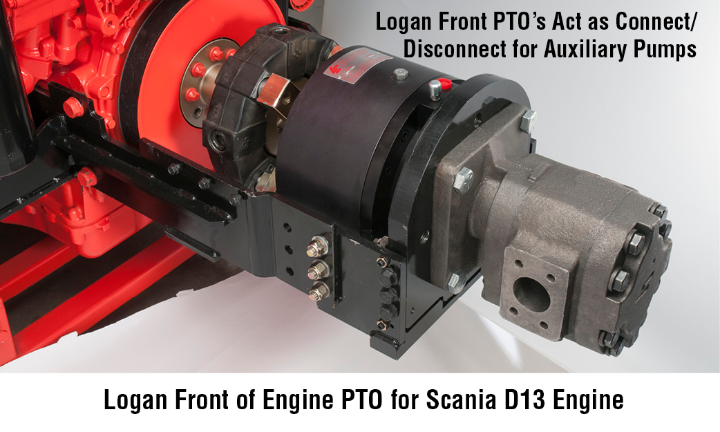 Logan Front of Engine PTO for Scania D13 Engine