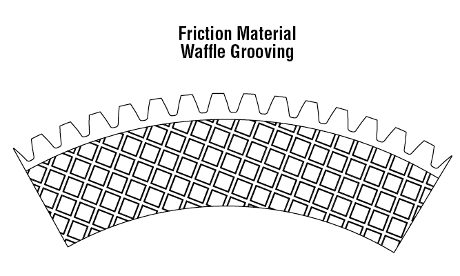 Friction Material Waffle Grooving