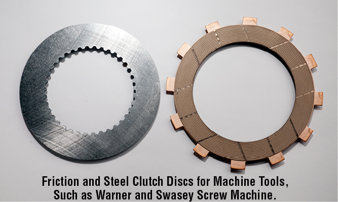 Friction and Steel Clutch Discs for Machine Tools, Such as Warner and Swasey Screw Machine.
