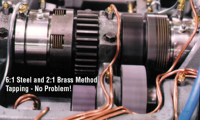 6:1 Steel and 2:1 Brass Method Tapping - No Problem!