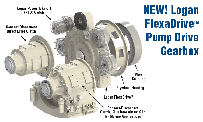 New Logan FlexaDrive Pump Drive Gearbox