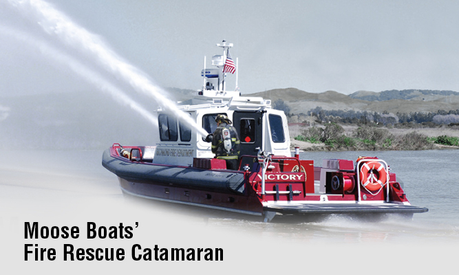 Moose Boats Fire Rescue Catamaran