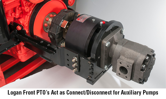 Logan Front PTO Act as Connect/Disconnect for Auxiliary Pumps