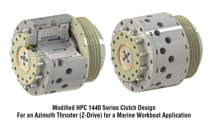 Modified HPC 1440 Series Clutch Design For an Azimuth Thruster (Z-Drive) for a Marine Workboat Application