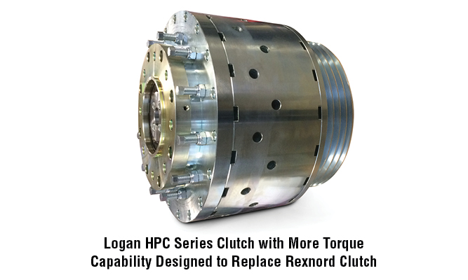 Logan HPC Series Clutch with More Torque Capability Designed to Replace Rexnord Clutch
