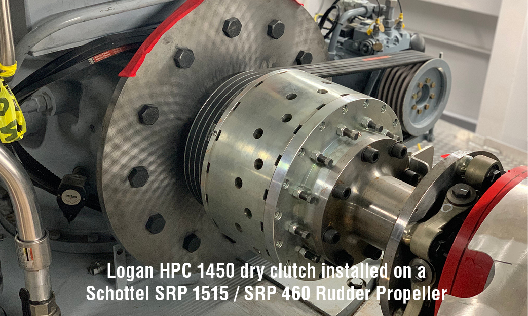 Logan HPC 1450 dry clutch installed on a Schottel SRP 1515 / SRP 460 Rudder Propeller
