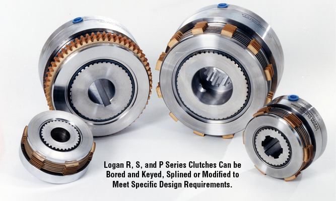 Logan R, S, and P Series Clutches Can be Bored and Keyed, Splined or Modified to Meet Specific Design Requirements.