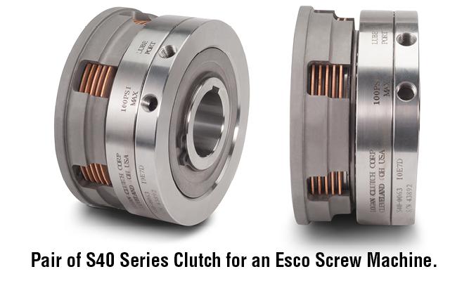 Pair of S40 Series Clutch for an Esco Screw Machine.