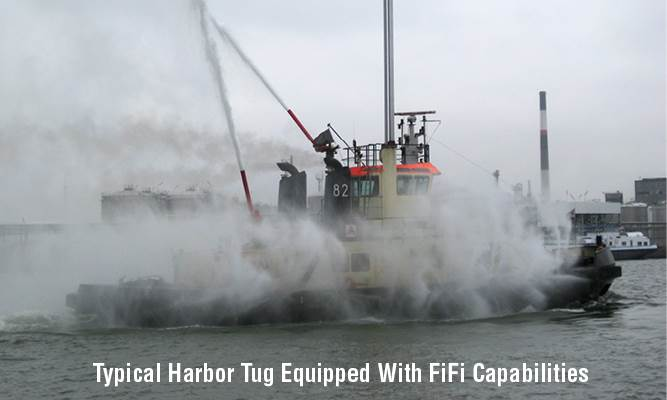 Typical Harbor Tug Equipped With FiFi Capabilities