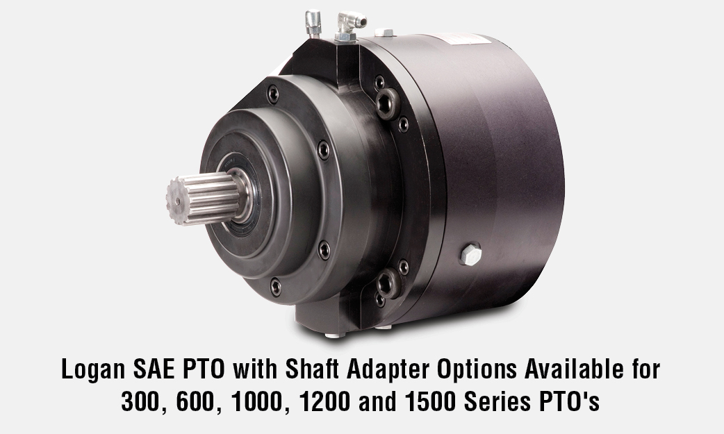 Logan SAE PTO with Shaft Adapter Options Available for 300, 600, 1000, 1200 and 1500 Series PTO\\\'s