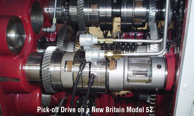 Pick-off Drive on a New Britain Model 52