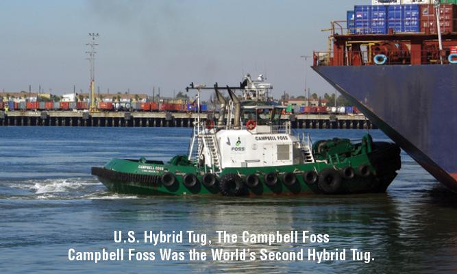 U.S. Hybrid Tug, The Campbell Foss Campbell Foss Was the World Second Hybrid Tug.