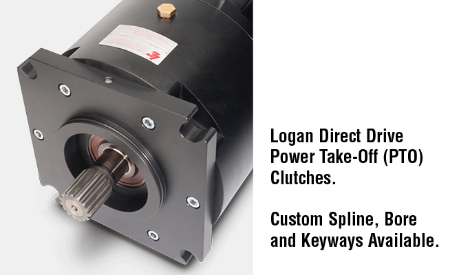 Logan Direct Drive Power Take-Off (PTO) Clutches. Custom Spline, Bore and Keyways Available.