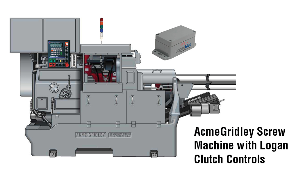 AcmeGridley Screw Machine with Logan Clutch Controls