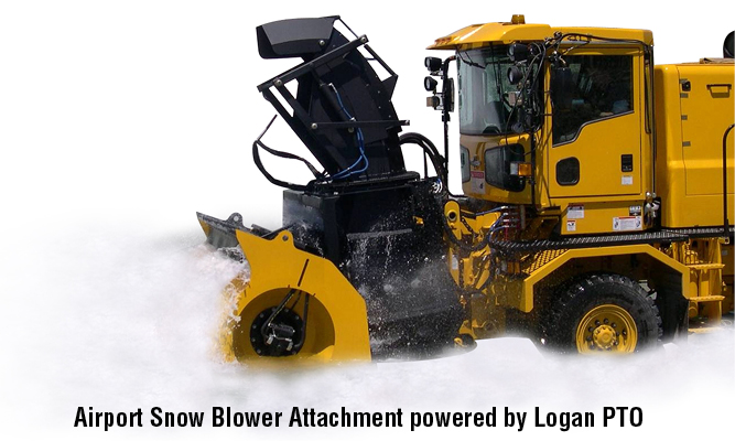 Airport Snow Blower Attachment powered by Logan PTO