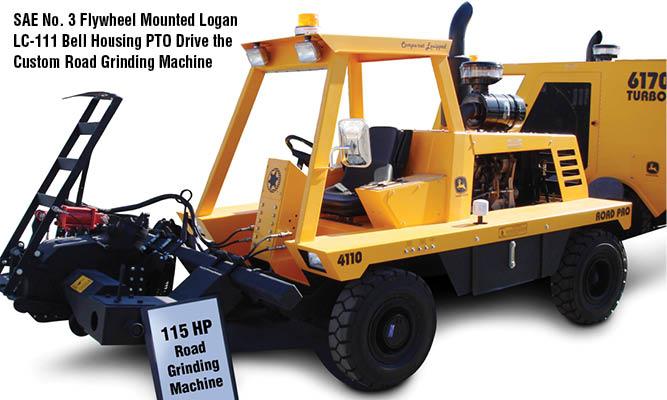 SAE No. 3 Flywheel Mounted Logan LC-111 Bell Housing PTO Drive the Custom Road Grinding Machine