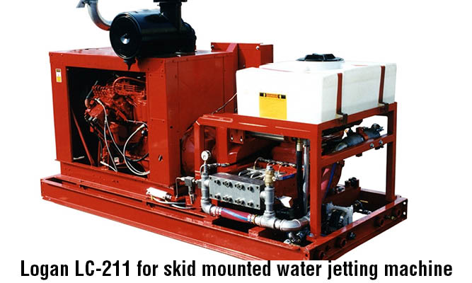 Logan LC-211 for skid mounted water jetting machine