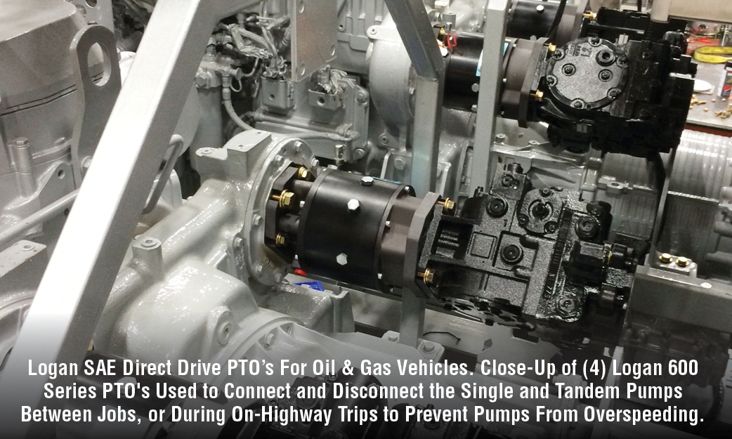 Logan SAE Direct Drive PTO For Oil & Gas Vehicles.
