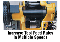 Brown and Sharpe Increase tool feed rates in multiple speeds