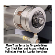more than twice the torque to move your stock reel and accurate braking optimizes your bar loader investment