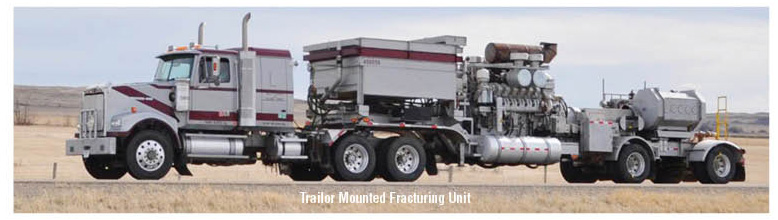 Trailor Mounted Fracturing Unit