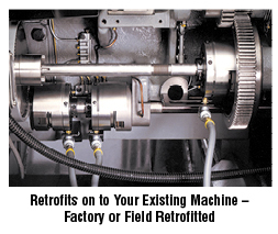 Retrofits on to your existing machine - factory or field retrofitted
