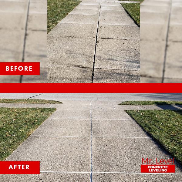 Concrete crack repair.