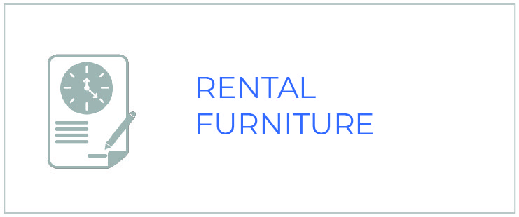 rental furniture icon - lease and rent furniture from national office