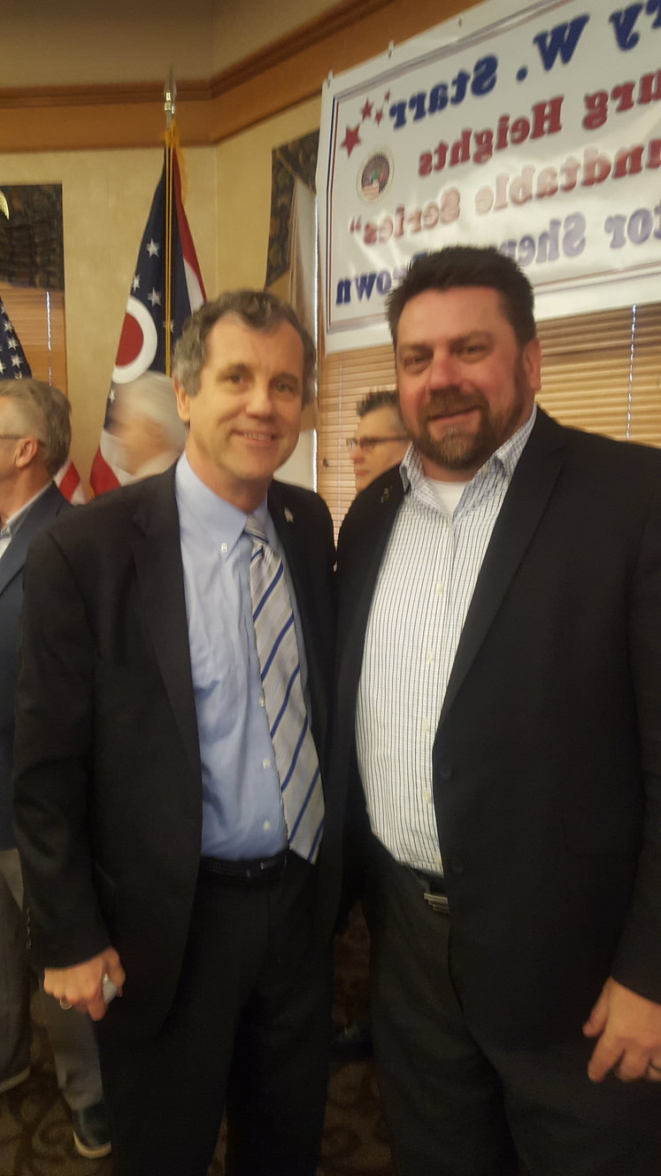 Image of Orbit Industries Chief Operating Officer, Robert Aleksandrovic with U.S. Senator Sherrod Brown