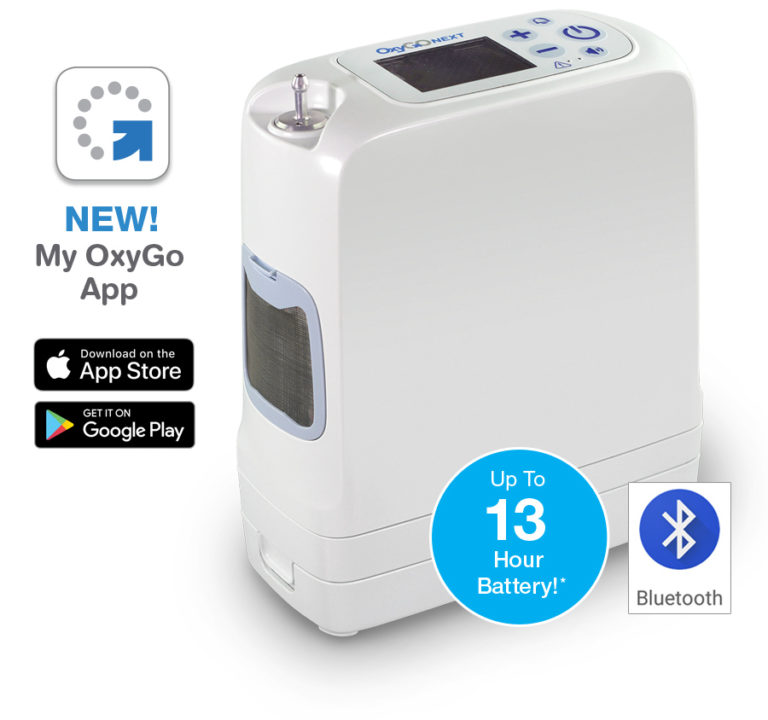 OxyGo Next - Up to 13 Hours Battery Life