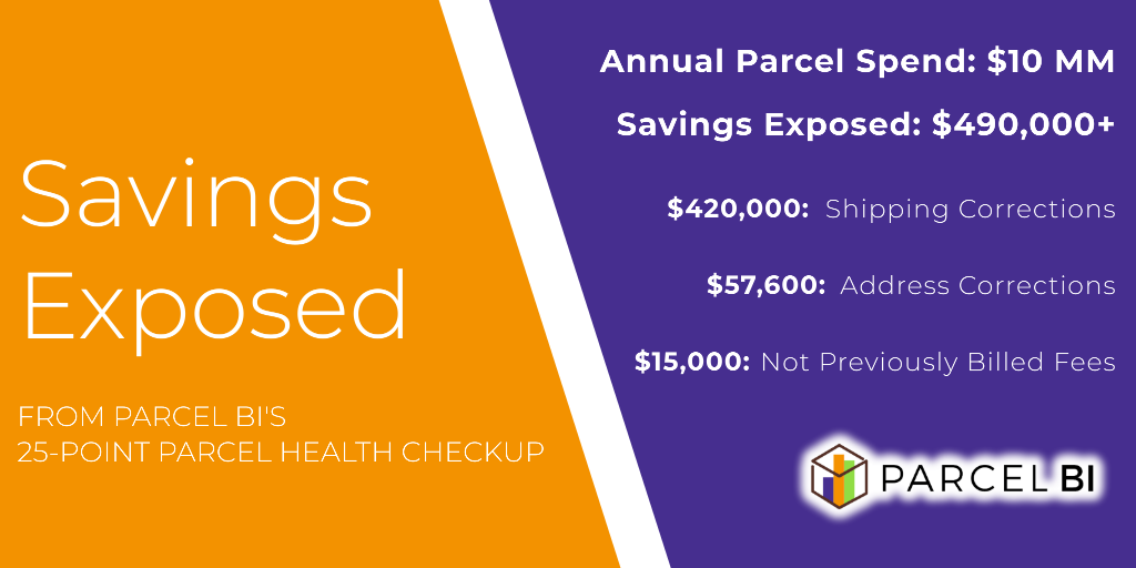 Savings Exposed with Parcel BI's 25 Point Parcel Health Checkup for Parcel Spend Management
