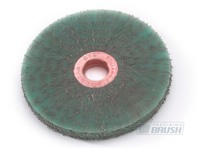 Encapsulated Carbon Steel Wire Copper Center Wheel Brush
