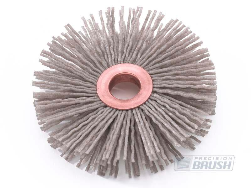 Aluminum Oxide Abrasive Nylon Copper Center Wheel Brush