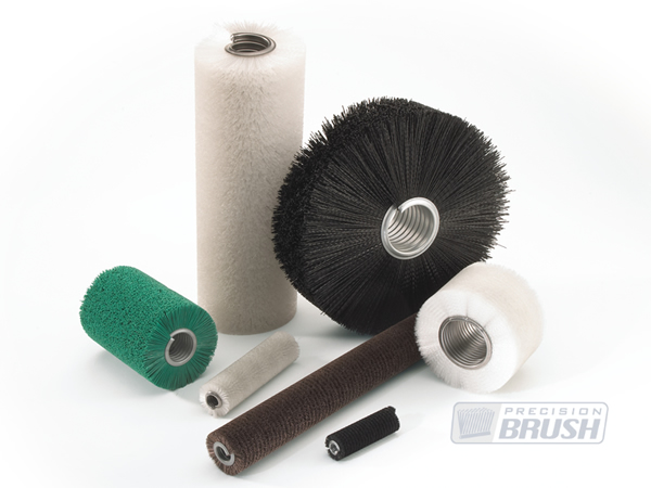 Cylinder or Coil Brushes, Custom made to your specific design. Precision Brush Co.