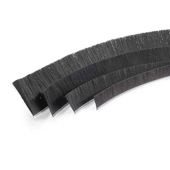 Flexible Polypropylene Strip Brushes .187 x .187 channel. Precision Brush Co.