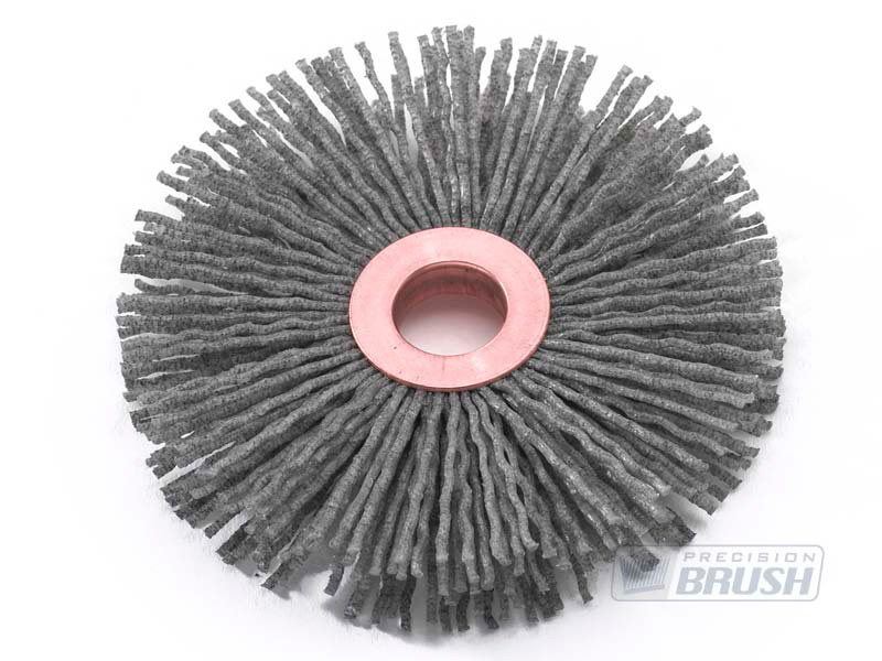 Abrasive Nylon / Silicon Carbide Copper Center Wheel Brushes