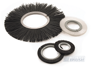 Industrial brushes with outside curve shape