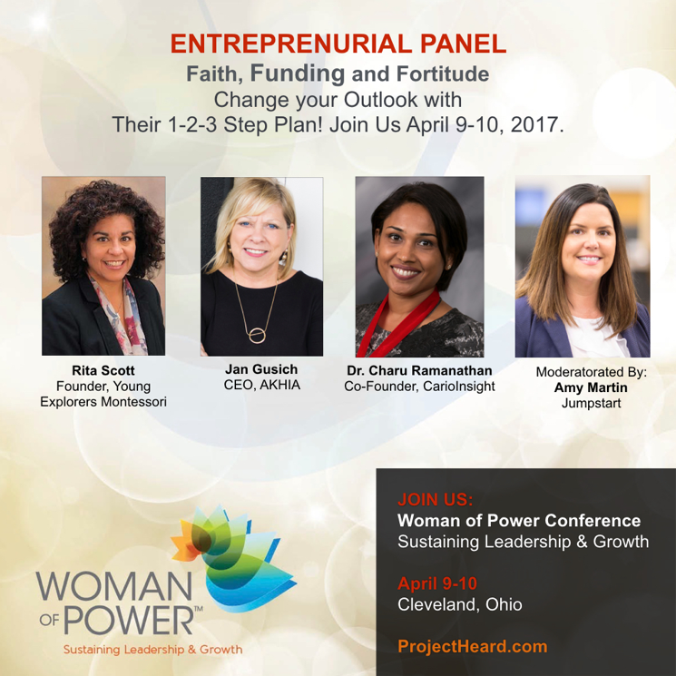 Entrepreneurial Panel at the Woman of Power Conference 2017 | Project Heard
